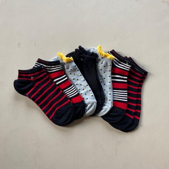 (7) TOMMY HILFIGER Stripe Low Cut Socks